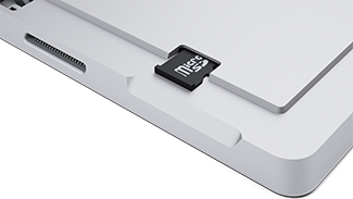 microSD card slot on Surface Pro 3