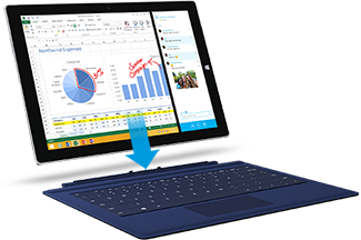 Connect a Typing Cover to Surface Pro 3