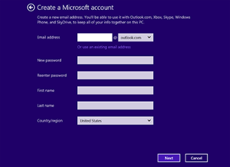 Set up a Microsoft email address