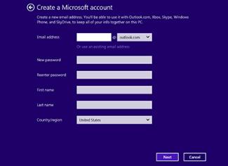 Oprette en Microsoft-mailadresse