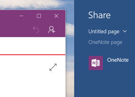 Use the Share icon to share a page