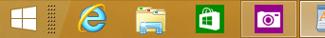 Taskleiste mit Desktop und WindowsStore-Apps