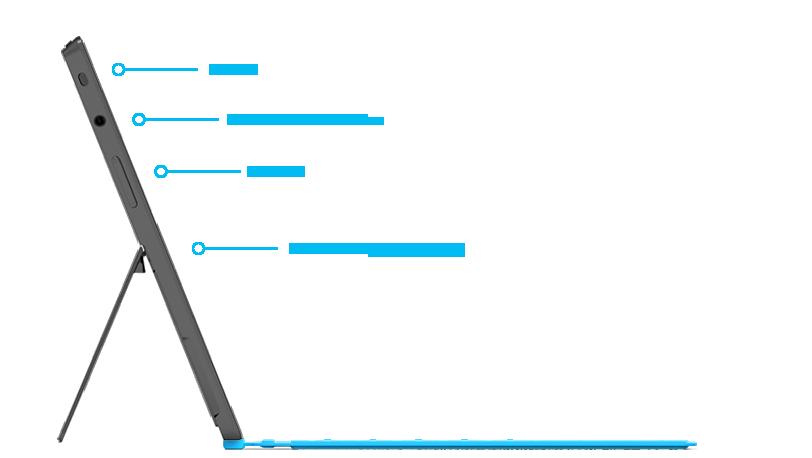 Características de Surface RT en el lado derecho