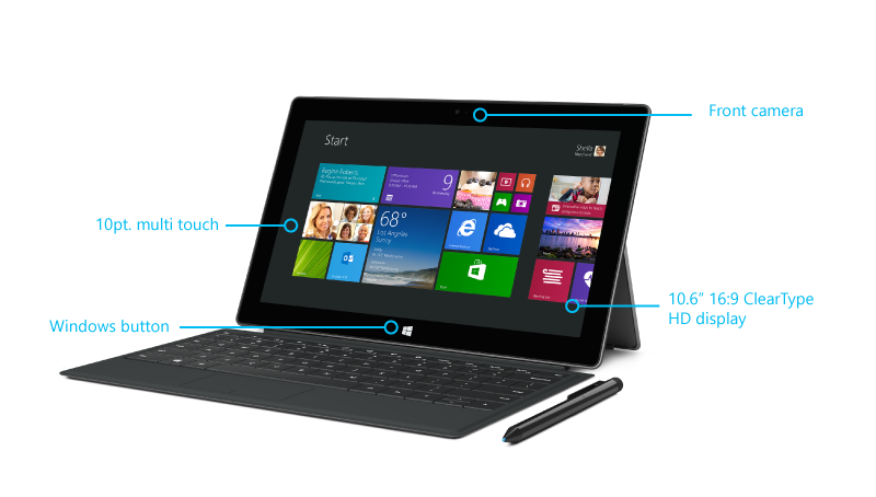 Surface Pro 2 features front
