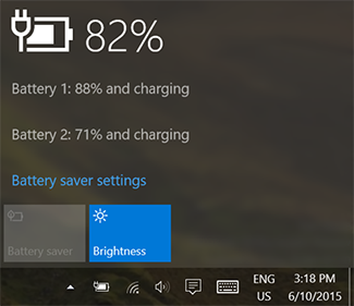 checking the battery levels