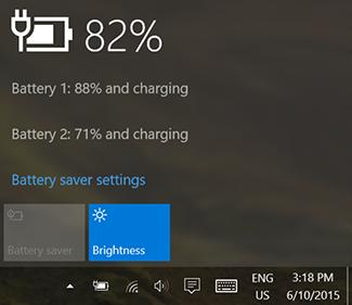 verifica dei livelli di carica delle batterie