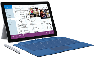 Surface Pro 3 con pluma y Type Cover