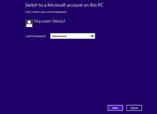 Skifte til en Microsoft-konto