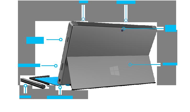 Surface Pro features rear quarter