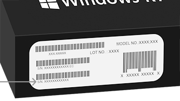 Serial Number On Microsoft Surface Keyboard Touch Cover