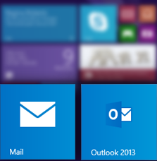 Mail tiles on Start
