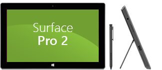 Surface Pro 2 front and side