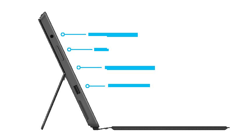 Funzionalità di Surface Pro 2: lato destro