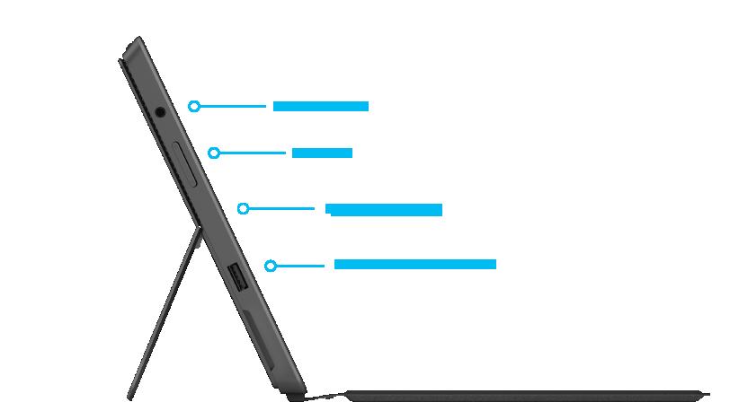 Surface Pro2-Features, rechte Seite