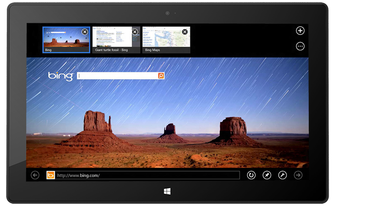 Le nouvel Internet Explorer 10 sur Microsoft Surface