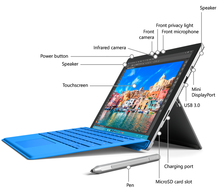 Microsoft Surface Pro 4 features