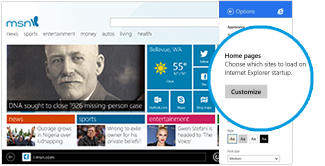 Change your Internet Explorer home page