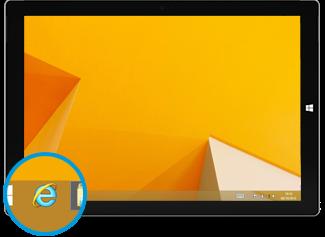 Internet Explorer for the desktop