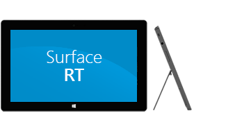 Surface 平板电脑正面及侧面