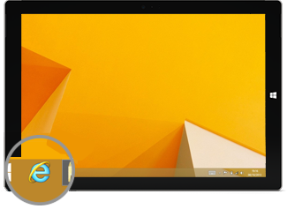 Internet Explorer icon in taskbar