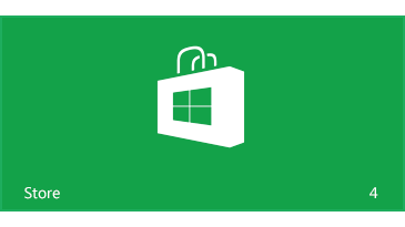 Four app updates are available from the Windows Store