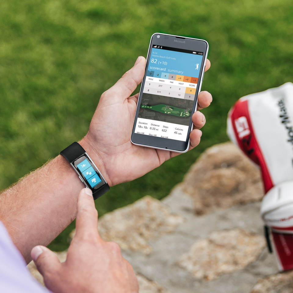 Track your golf game with Microsoft Band