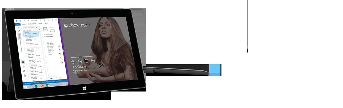 Surface Pro 2 Tablet Running Apps