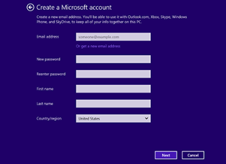 Set up a Microsoft account