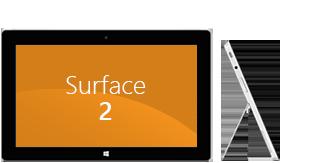 Surface 2 平板电脑正面及侧面