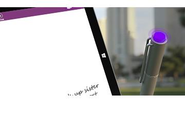 Klik på topknappen på Surface Pen
