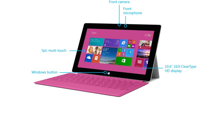 Surface 2 features front