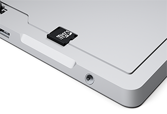 MicroSD card slot on Surface 3