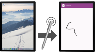 Click to open OneNote