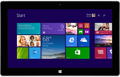 Windows 8.1-startscherm