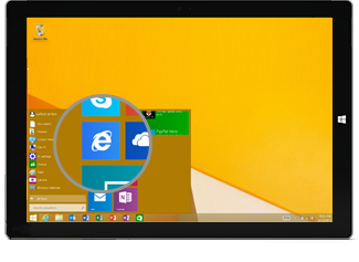 Internet Explorer tile on Start screen