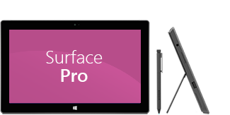 SurfacePro de face et de profil