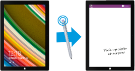 Click the top of Surface Pen to open OneNote