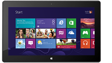 Start screen on Microsoft Surface