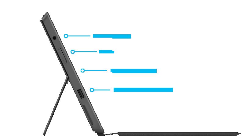 Surface Pro 2-functies rechterkant
